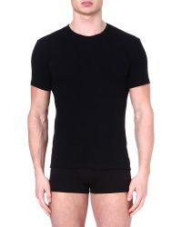 Calvin Klein | Black Two Pack Crew-neck T-shirts for Men | Lyst