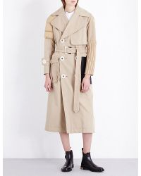 Undercover Natural Multi-texture Cotton-blend Trench Coat