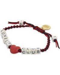 Venessa Arizaga Red Lonely Hearts Club Bracelet