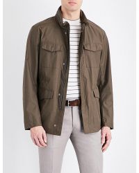 Armani Multicolor Cotton-blend Safari Jacket for men