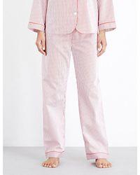 Bodas Pink Verbier Cotton Pyjama Bottoms