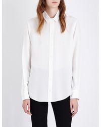 JOSEPH | White New Garcon Silk Shirt | Lyst
