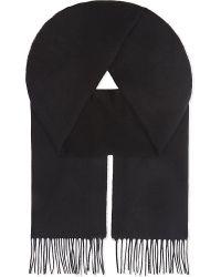 Johnstons | Black Plain Cashmere Scarf for Men | Lyst