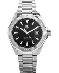 Tag Heuer Metallic Women's Silver And Back Way1110.ba0910 Aquaracer Stainless Steel Watch