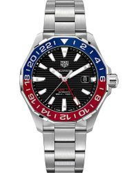 Tag Heuer - Multicolor Way201f.ba0927 Aquaracer Steel And Sapphire-crystal Watch for Men - Lyst
