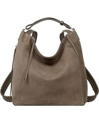 AllSaints Gray Cooper Leather Backpack