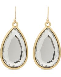 kate spade new york | Metallic Expand Your Horizons 14ct Gold-plated Teardrop Earrings | Lyst