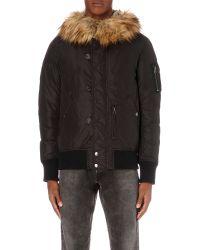 DIESEL | Black W-esk Shell Coat for Men | Lyst