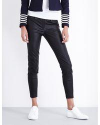 Tommy Hilfiger Black Tommy X Gigi Skinny Leather Trousers