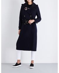 Tommy Hilfiger Blue X Gigi Hadid Military Double-breasted Wool-blend Coat