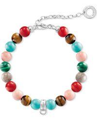 Thomas Sabo - Red Charm Club Multi-stone Charm Bracelet - Lyst