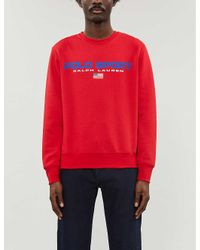 Polo Ralph Lauren Red Sport Logo Cotton-jersey Sweatshirt for men