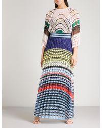 Missoni Blue Striped Woven Dress