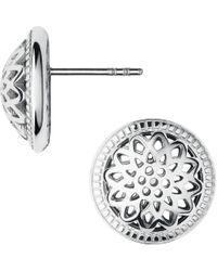 Links of London - Metallic Timeless Sterling Silver Domed Stud Earrings - Lyst