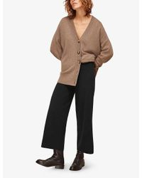 Whistles Black Knitted Wide-leg Trousers