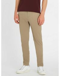 Replay Natural Zeumar Hyperflex Slim-fit Stretch-cotton Chinos for men
