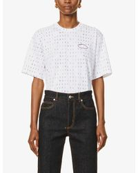 Victoria, Victoria Beckham White Word Search Logo-print Cotton-jersey T-shirt