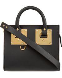Sophie Hulme Black Mini Box Leather Albion Tote