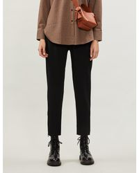Stella McCartney Black Tamara Elasticated-waist Stretch-crepe Trousers