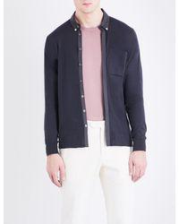 John Smedley Blue Banwell Cotton Shirt for men