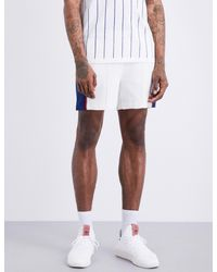 Adidas Originals White Williams Colour Block Knitted Tennis Shorts for men