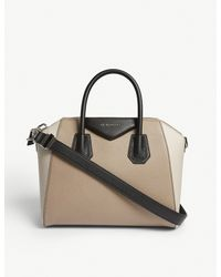 Givenchy Natural Antigona Small Grained Leather Shoulder Bag