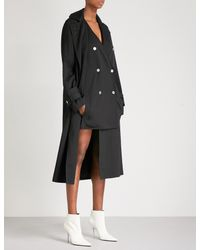 Dion Lee Black Soft Twill Trench Coat