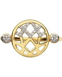 Links of London Metallic Timeless Gold 18ct Yellow-gold And Diamond Ring
