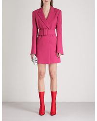 Off-White c/o Virgil Abloh Pink Tailored-fit Crepe Blazer Dress