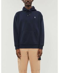 Polo Ralph Lauren Blue Logo-embroidered Cotton-jersey Hoody for men