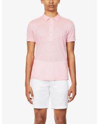 Orlebar Brown Pink Sebastian Linen Polo Shirt for men