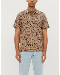 PS by Paul Smith Natural Cheetah-print Short-sleeve Casual-fit Cotton Shirt for men