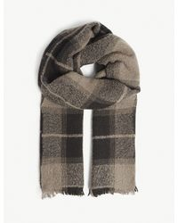 Rick Owens - Gray Plaid Scarf for Men - Lyst
