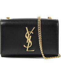 Saint Laurent - Black Monogram Small Leather Shoulder Bag - Lyst