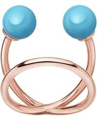 Astley Clarke - Blue Yves Rose-gold Vermeil And Turquoise Ring - Lyst