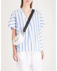 Stateside Blue Striped Cotton-poplin Shirt