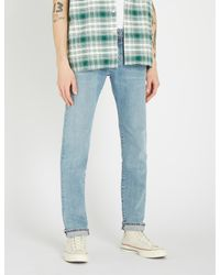 7 For All Mankind Blue Kayden Slim-fit Faded Straight-leg Jeans for men