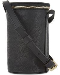 Whistles Black Ellis Cylinder Grained Leather Cross-body Bag