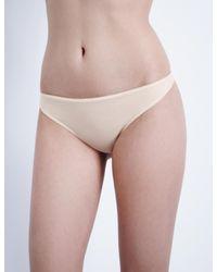Hanro Natural Ultralight Cotton Thong