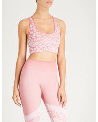 Varley Pink Pavilion Stretch-jersey Sports Bra