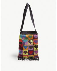 J.W. Anderson - Multicolor Heart Grid Knitted Shoulder Bag - Lyst