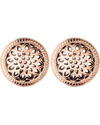 Links of London - Pink Timeless 18ct Rose-gold Vermeil Stud Earrings - Lyst