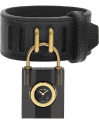 Gucci Multicolor Ya150506 Constance Mother-of-pearl And Leather Strap Quartz Watch for men
