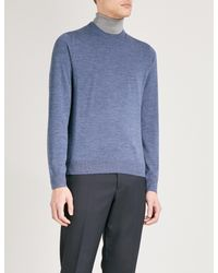Paul Smith Blue Crewneck Merino Wool Jumper for men