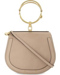 Chloé - Multicolor Nile Rounded Leather Cross-body Satchel - Lyst
