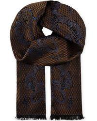 The Kooples - Multicolor Dragon Pattern Silk Scarf for Men - Lyst