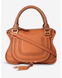 Chloé Brown Women's Tan Marcie Medium Shoulder Bag