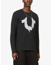 True Religion Black Urban Logo-print Cotton-jersey Top for men