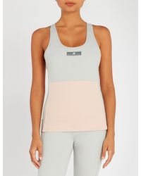 Adidas By Stella McCartney - Multicolor Yoga Comfort Stretch-jersey Top - Lyst