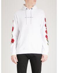 Criminal Damage White Petal Cotton-jersey Hoody for men